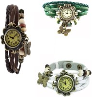 MAPA STYLE Stylish Collection Brown, Green, White Vintage Analog Watch Girls Or Womens MPSTYLE 066 Watch  - For Women