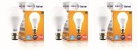 Wipro 15 W Standard B22 LED Bulb(White, Pack of 3)