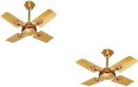View Rok On EP1002 600 mm sweep ceiling fan (24'') small wonder Golden Cherry 4 Blade Ceiling Fan(gold) Home Appliances Price Online(Rok On)