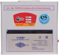 View Maxine CFL HOME UPS - Metal Body With 12V, 9Ah Trontek Battery Square Wave Inverter Home Appliances Price Online(Maxine)