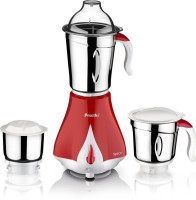Preethi MG 203 550 W Mixer Grinder (3 Jars, RED AND WHITE)