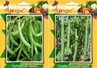 Airex Semphali and Snake Gourd Vegetables Seed (Pack Of 20 Seed * 2 Per Packet) Seed(20 per packet)