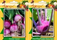 Airex Onion and Knol Khol Purple Viena Vegetables Seed (Pack Of 15 Seed * 2 Per Packet) Seed(15 per packet)