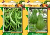 Airex Semphali and Banga Vegetables Seed + Humic Acid Fertilizer (For Growth of All Plant and Better Responce) 15 gm Humic Acid + Pack Of 30 Seed * 2 Per Packet Seed(30 per packet)