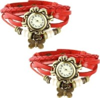 MAPA STYLE Designer Cool Collection Red 2 Combo Watch MPSTYLE 068 Watch  - For Women