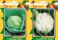 Airex Cabbage and Cauliflower Vegetables Seed (Pack Of 20 Seed Cabbage + 20 Cauliflower) Seed(20 per packet)