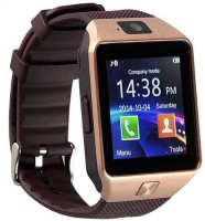 GLOWISH GL Notifier Health Smartwatch(Black, Brown Strap, Free Size)