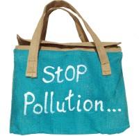 Khadi Eco Basket Natural Jute Hand Bag Multipurpose Bag(Blue, 11 inch)