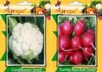 Airex Cauliflower and Turnip Red Ball Vegetables Seed (Pack Of 15 Seed Cauliflower + 15 Turnip Red Ball) Seed(15 per packet)