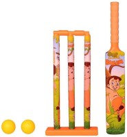 Pepperonz Little Super Hero Cartoon Print Kids Cricket Set Ball, Bat & Stumps for Kids Sport Play Set Cricket Kit