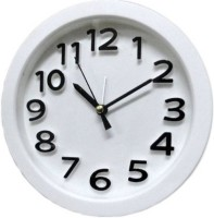 Tuelip Analog Wall Clock(White, With Glass)