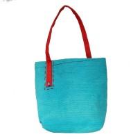 Khadi Eco Basket Handmade Women Jute Bag Multipurpose Bag(Blue, 30 L)