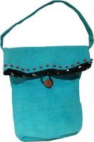 Khadi Eco Basket Stylish Jute Hand Bag Multipurpose Bag(Light Blue, 35 L)