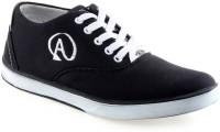 U2Shoes Boys Lace Sneakers(Black)