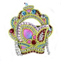 The holy mart Pink Grand Mukut Mala and Bangle set ( 5 size) Deity Ornament(KRISHNA, Radha krishna, DURGA, Balgopal, Govinda, LADOO GOPAL, OTHER GODS)