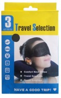 TRAVEL SELECTION 3 IN 1 TRIP TRAVEL KIT Neck Pillow & Eye Shade(BLUE)