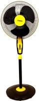 View Minar Air Marshal High Speed 400 mm Pedestal Fan 3 Blade Pedestal Fan(Black, Yellow)  Price Online