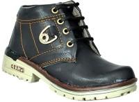 Leon Boys Lace Casual Boots(Black)