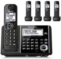 View Panasonic KX-TGF345 Cordless Landline Phone with Answering Machine(Black)  Price Online