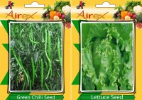 Airex Green Chilli and Lettuce Vegetables Seeds (Pack Of 15 Seeds * 2 Per Packet) Seed(15 per packet)