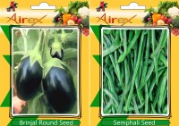 Airex Round Brinjal, Semphali Seed(15 per packet)