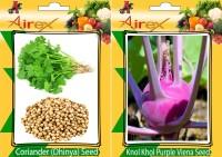 Airex Coriander (Dhaniya), Knol Khol Purple Viena Seed(25 per packet)