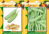 AIrex Bottle Gourd, Cluster Bean Seed(15 per packet)
