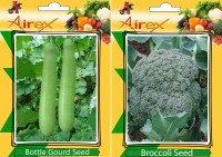 Airex Bottle Gourd and Broccoli Vegetables Seeds (Pack Of 15 Seeds * 2 Per Packet) Seed(15 per packet)