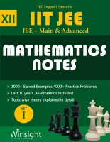 IIT Topper's Notes For 12th Maths JEE Main & Advanced 2018 (Set Of 4 Books + 1 Hints Book) - JEE Topper's Notes Compilation(Paperback, Winsight Academy)