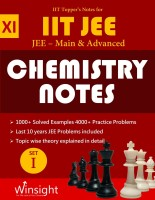 IIT Topper's Notes For 11th Chemistry JEE Main & Advanced 2018 (Set Of 5 Books + 1 Hints Book) - JEE Topper's Notes Compilation(Paperback, Winsight Academy)