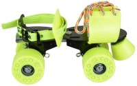 Cosco Zoomer Sr. (19.5 - 26.5 cm) Age Group (8+ Years) Quad Roller Skates - Size Kids 12 - Adults 8 UK(Green)