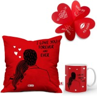 Indigifts Cushion, Greeting Card, Mug Gift Set