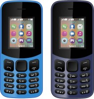 I Kall K12 New Combo of Two Mobiles(Sky Blue & Dark Blue) - Price 1199 25 % Off