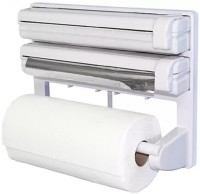 Lagom ABS Strong Moulded Easy Flow™ Type-X-7 3-in-1 Kitchen Roll Holder Mount For Cling Film Towel Wrap Aluminium Foil Wall Mounted ABS Strong Moulded Easy Flow™ Type-X-7 Paper Dispenser Paper Dispenser