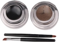 APK smudge proof long lasting Gel Eyeliner Black+Brown 6 g(Carbon Blk)