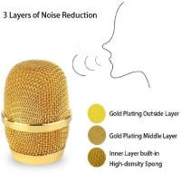 Nika Q9 Microphone Wireless, Portable Handheld Singing Machine Condenser Mic And Bluetooth Speaker Compatible With All Devices Microphone(Golden)