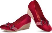 PIPILIKA Queen 113.325 Red Trendy High Heel Wedges Belly Shoe for Women Bellies For Women(Red)