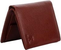 K London Men Casual, Formal Brown Genuine Leather, Fabric Wallet(6 Card Slots)