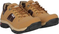 Kraasa Solid Boots For Men(Tan, Brown)