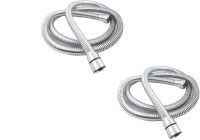 RoyaL Indian Craft RFT12 Set of 2 Stainless Steel Flexible Shower Tube/Hose 1.5 meter Hose Pipe