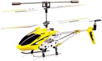 Miss & Chief Metal Helicopter 3 Channel Infrared Remote Control with Gyroscope n LED Lights for Indoor Yellow(Yellow)