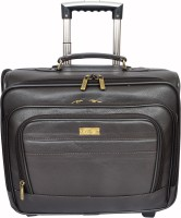 Allen Cooper AC-241-TROLLEY Expandable  Cabin Luggage - 14 inch(Brown)