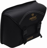 medetai Side Bag and Metal Clip for All Bikes (Black) One-side Black Leatherette Motorbike Saddlebag(15 L)
