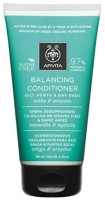 Apivita 6 X Balancing Conditioner For Oily Roots And Dry Ends With Nettle And Propolis (New Product, Released In 2017) 6 Tubes X 150Ml/5.1Oz Each One(150 ml)