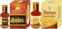 Purandas Ranchhoddas PRS Amber & Shamama 6ml Each Herbal Attar(Amber)