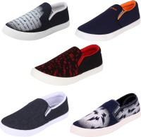 World Wear Footwear Multicolor Combo-(5)-486-689-723-720-462 Loafers For Men(Multicolor)
