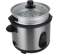 Wonderchef 8904214707194 Electric Rice Cooker with Steaming Feature(1.8 L, Silver and Black)