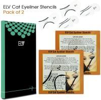 ELV Cat Smokey Eye, Makeup Eyeliner Stencils, Repeatable Card Template Tools Kit Eyebrow Stencil(4) - Price 199 84 % Off