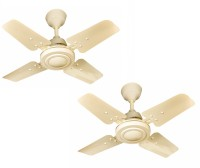 Four Star GALLAXY Smart Turbo High Speed 600 mm 4 Blade Ceiling Fan(IVORY, Pack of 2)