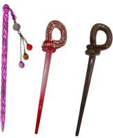 Manolima Metallic Combo of Multi Color Juda Sticks Bun Stick(Multicolor) - Price 450 77 % Off